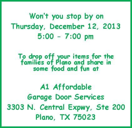 Christmas Cops at A1 Affordable Garage Door Services