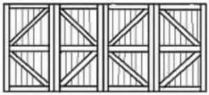Custom wood garage door 107
