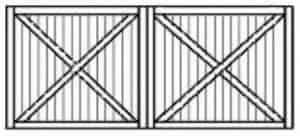 Custom wood garage door 108