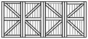 Custom wood garage door 110