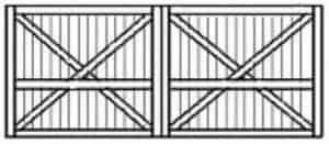 Custom wood garage door 115