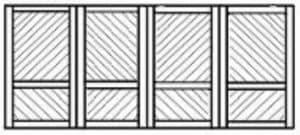 Custom wood garage door 135