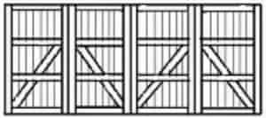 Custom wood garage doors 142