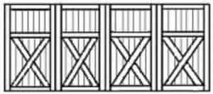 Custom wood garae doors 167