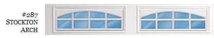 Doorlink Arched Stockton Garage Door Window Insert