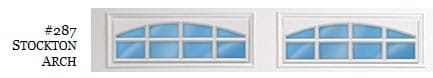 Doorlink Arched Stockton Garage Door Window Insert