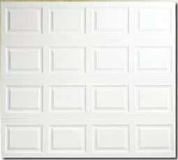insulated metal garage door with raised panels