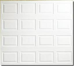 insulated metal garage door with raised panels
