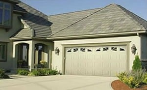 insulated metal garage door with windows