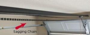 Sagging chain on garage door opener