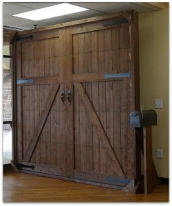 Custom Cedar Garage Door Plano Showroom
