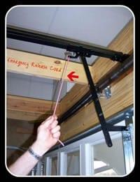 Repair garage doors - Emergency Release Cord