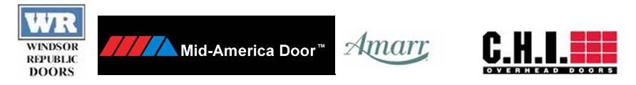 windsor garage doors, mid-america garage doors, Amarr garage doors, CHI garage doors