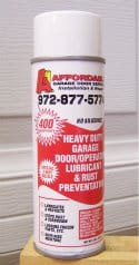 Garage door maintenance lubricant