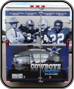 Dallas Cowboys Tailgating Trailer rear view