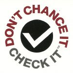 White Dont chance it Check it garage door safety