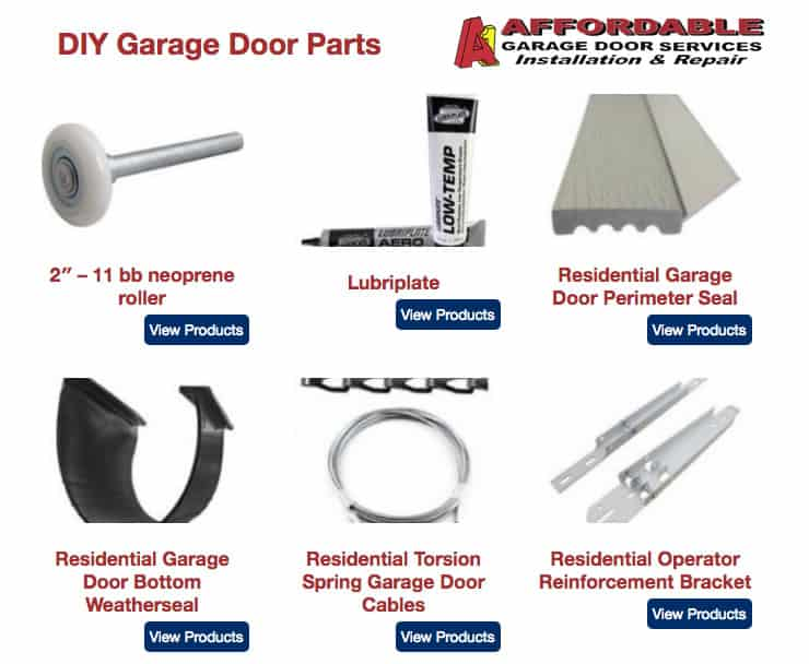 Garage Door Parts A1 Affordable Garage Door Services