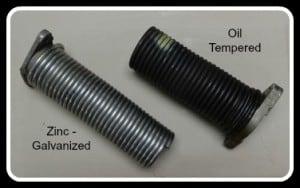 Garage door springs - oil tempered - zinc - galvanized