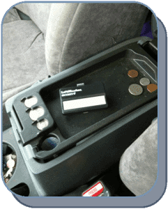 Center console hide remote
