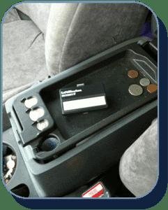 Center console hide remote