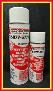 Garage Door Lubrication 15 and 8 oz size