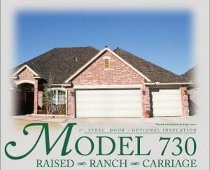 Garage door - Windsor Model 730