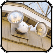Motion sensored garage lights