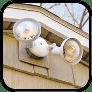 Motion sensored garage lights
