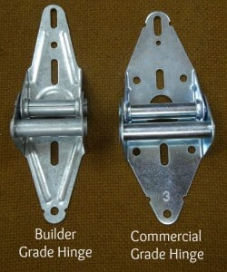 builder grade hinge and commercial hinge