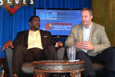 Greg Ellis and Chad Hennings on stage