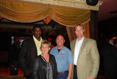 Kevin, Marsha, Greg Ellis, Chad Hennings Dallas Cowboys