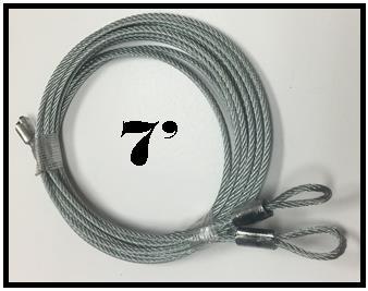 7 foot torsion spring cables