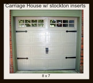 8 x 7 Carriage house door