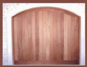 8 x 7 Custom Wood Door Vertical Arched-1