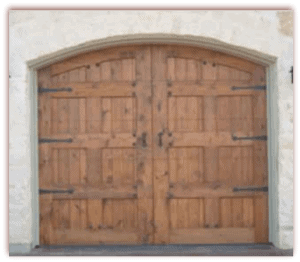8 x 7 Custom Wood Door arched with hardware-1
