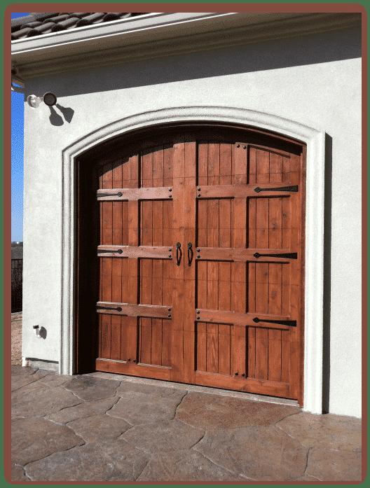 Custom Wood Garage : Custom wood garage door add beauty ur home doors