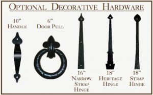 Decorative Hardware for Carriage House Design Garage Doors