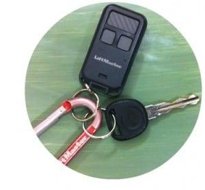 keychain garage door opener remote circle