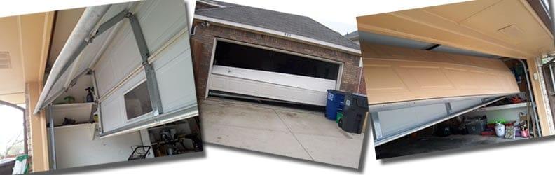 broken garage doors