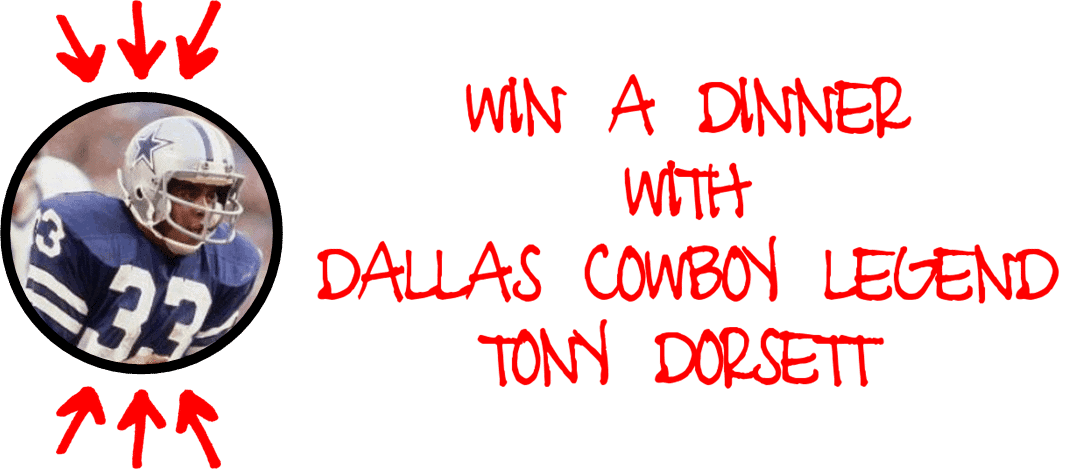 Cowboys Fanfest 2016 - Win a dinner with Tony Dorsett