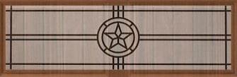 Amarr Americana Long Panel Decraglass Window Design