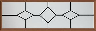 Amarr Chalet Long Panel Decraglass Window Design