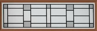 Amarr Heartland Long Panel Decraglass Window Design