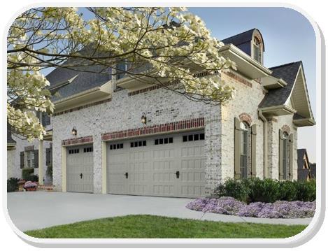 Amarr Oak Summit Recessed panel garage door