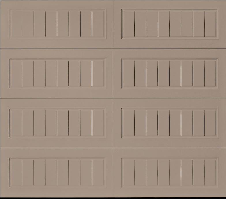 Oak Summit Sandtone Long Bead Board Garage Door
