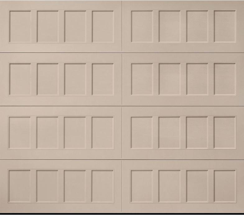 Oak Summit Sandtone Recessed Panel Garage Door