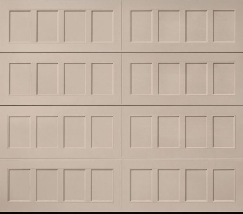 Oak Summit Sandtone Recessed Panel Garage Door