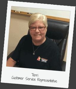 Terri Webster - Customer Service A1 Affordable Garage Door Services