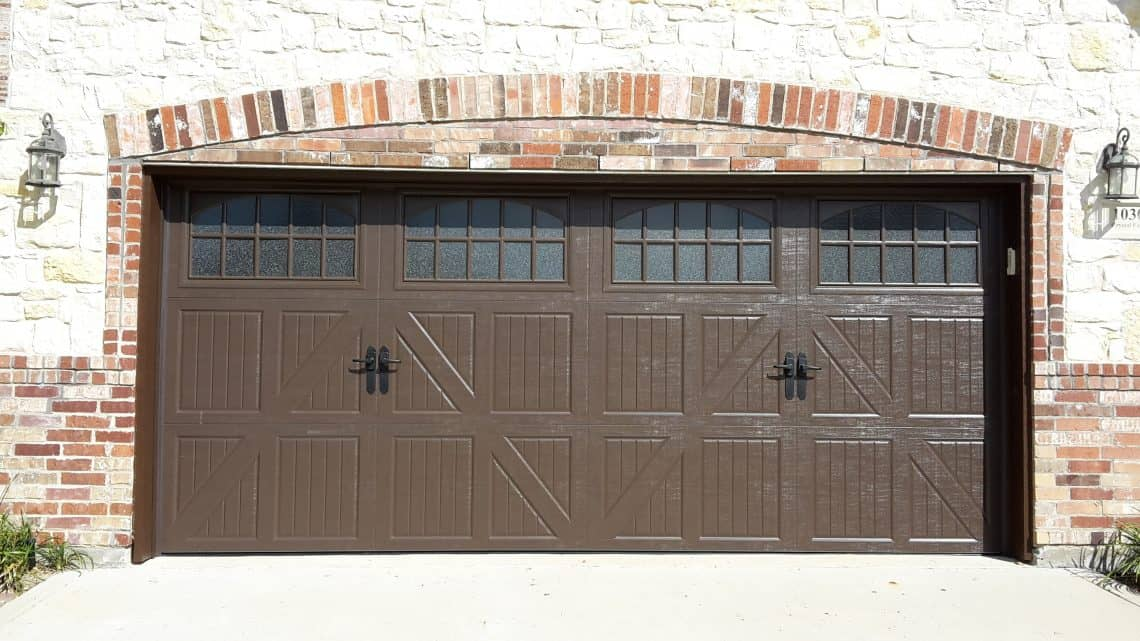 Affordable garage door repairs in plano mckinney and allen classica lucern danube with obscure glass brown rubansaba