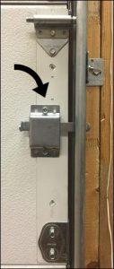 garage door inside slide lock